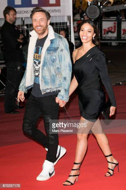 David Guetta and Jessica Ledon attend the 19th 'NRJ Music Awards' ceremony on November 4 2017 in Cannes France