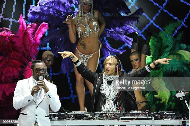 David Guetta and Will-i-am perform onstage during the World Music Awards 2010 at the Sporting Club on May 18, 2010 in Monte Carlo, Monaco.