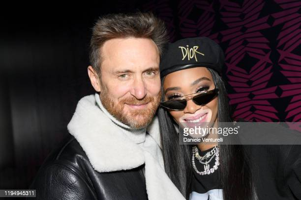 David Guetta and Winnie Harlow attend the MDL Beast Festival on December 19 2019 in Riyadh Saudi Arabia