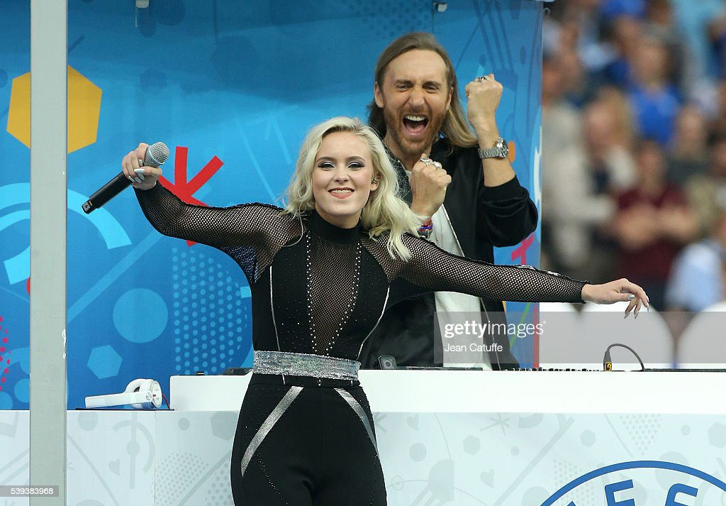 David Guetta and Zara Larsson perform the official theme