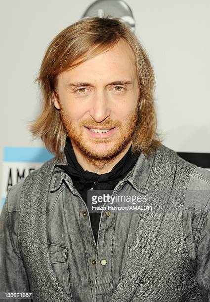 David Guetta arrives at the 2011 American Music Awards held at Nokia Theatre LA LIVE on November 20 2011 in Los Angeles California