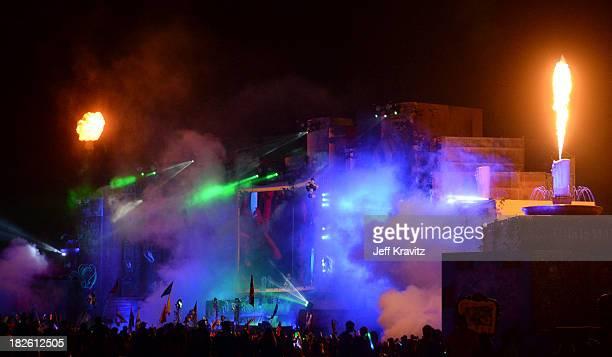 David Guetta at TomorrowWorld Electronic Music Festival on September 29 2013 in Fairburn Georgia