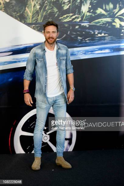 David Guetta attends album '7' presentation on September 12 2018 in Madrid Spain