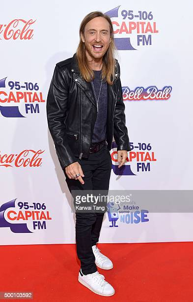 David Guetta attends day one of the Capital FM Jingle Bell Ball at The O2 Arena on December 5 2015 in London England