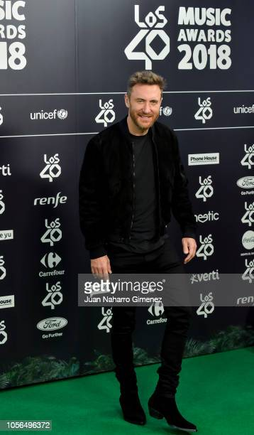 David Guetta attends 'LOS40 Music Awards' 2018 at WiZink Center on November 2 2018 in Madrid Spain