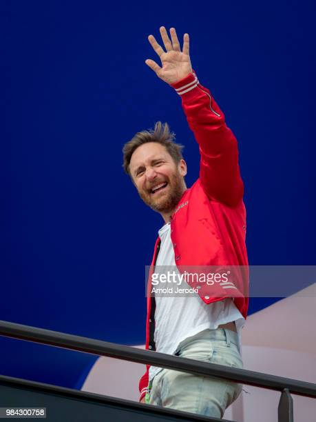 David Guetta attends the Formula One Grand Prix of France at Circuit Paul Ricard on June 24 2018 in Le Castellet France