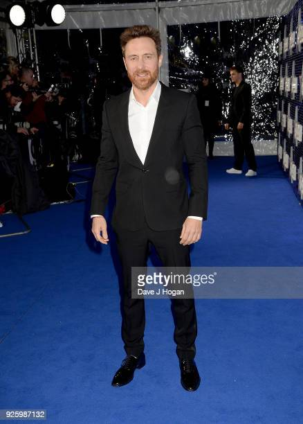David Guetta attends The Global Awards a brand new awards show hosted by Global the Media Entertainment Group at Eventim Apollo Hammersmith on March...