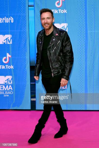David Guetta attends the MTV EMAs 2018 on November 4 2018 in Bilbao Spain