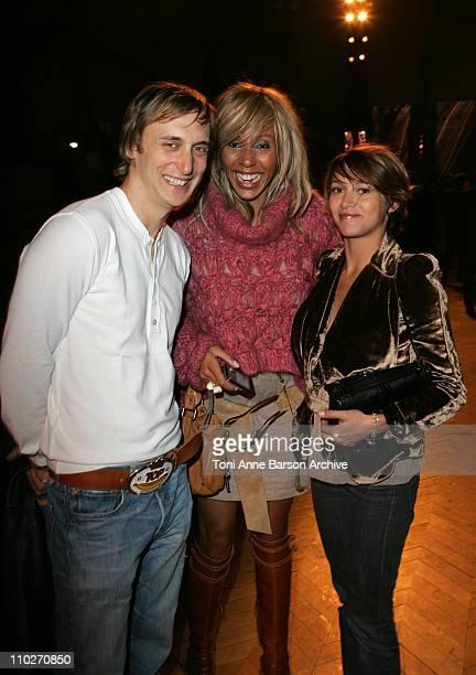 David Guetta Cathy Guetta and Emma De Caunes during Paris Fashion Week Pret a Porter Spring/Summer 2006 Christian Dior Arrivals at Grand Palais in...