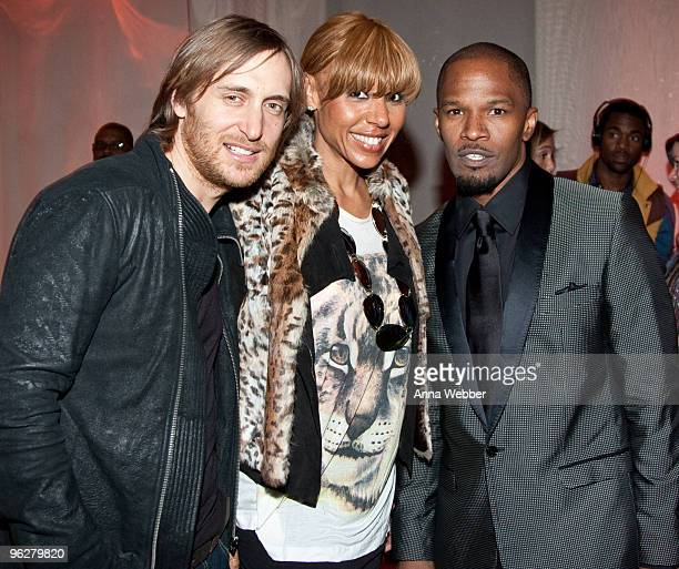 DJ David Guetta Jamie Foxx and guest attend L'Ermitage on January 29 2010 in Los Angeles California