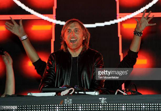 David Guetta performs as part of Day Three of Ultra Music Festival 14 at Bayfront Park on March 25 2012 in Miami Florida