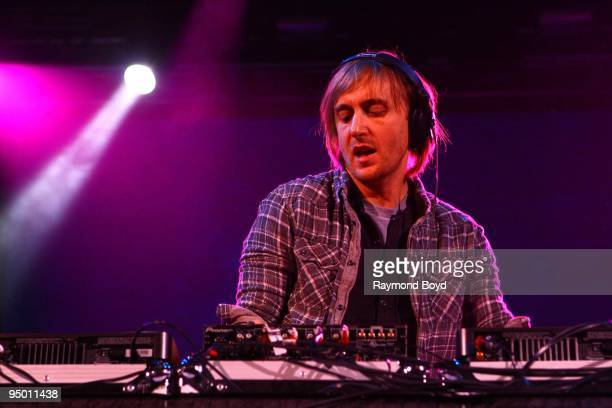 DJ David Guetta performs at the Allstate Arena in Rosemont Illinois on December 12 2009