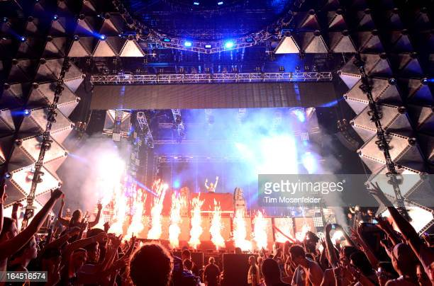 David Guetta performs at the Ultra Music Festival on March 23 2013 in Miami Florida