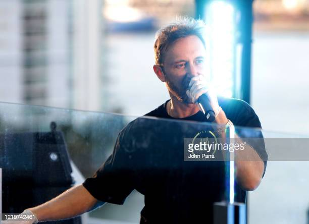David Guetta performs during his United at Home live stream in support of COVID19 relief on April 18 2020 in downtown Miami Florida