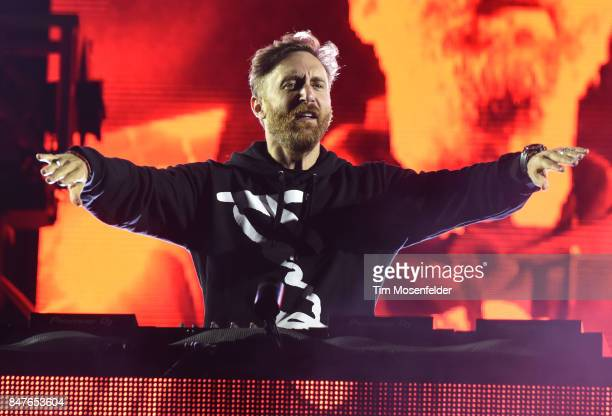 David Guetta performs during KAABOO Del Mar at the Del Mar Fairgrounds on September 15 2017 in Del Mar California