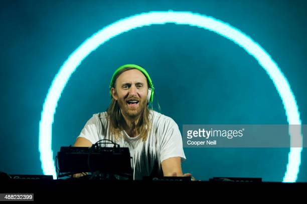David Guetta performs during Suburbia Music Festival on May 4 2014 in Plano Texas