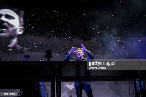 David Guetta performs during the last day of O Son do Camino Festival on June 14, 2019 in Santiago de Compostela, Spain.