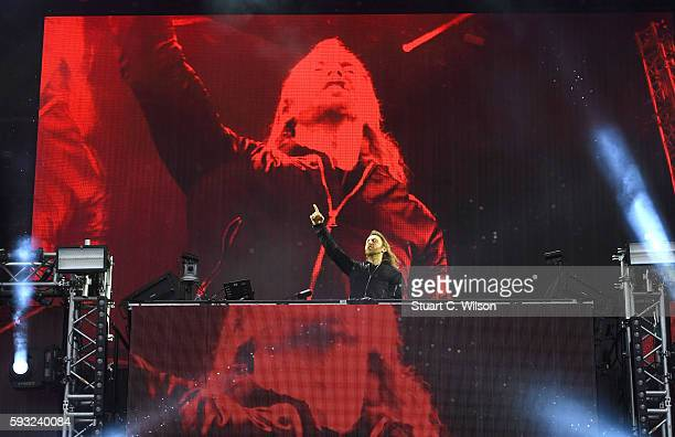 David Guetta performs during V Festival at Hylands Park on August 20 2016 in Chelmsford England