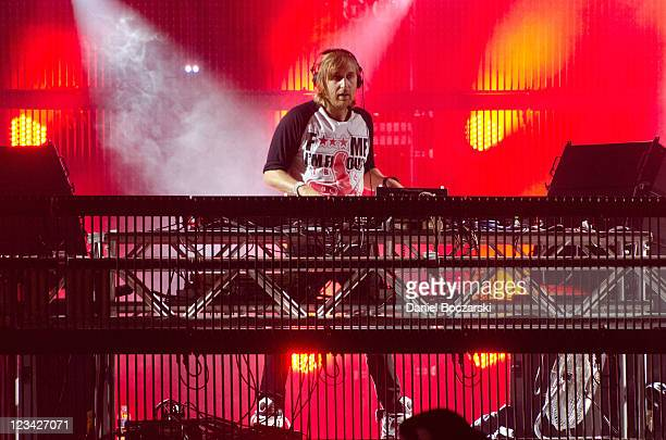 David Guetta performs on stage during North Coast Music Festival at Union Park on September 2 2011 in Chicago United States