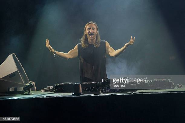 David Guetta performs on stage for iTunes Festival at The Roundhouse on September 3 2014 in London United Kingdom