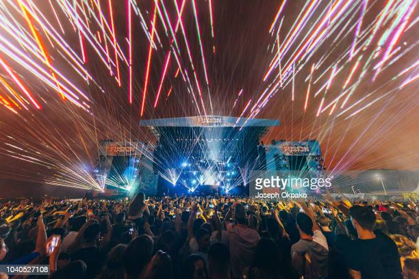 David Guetta performs on stage on Day 1 of Fusion Festival 2018 at Otterspool Parade on September 1 2018 in Liverpool England