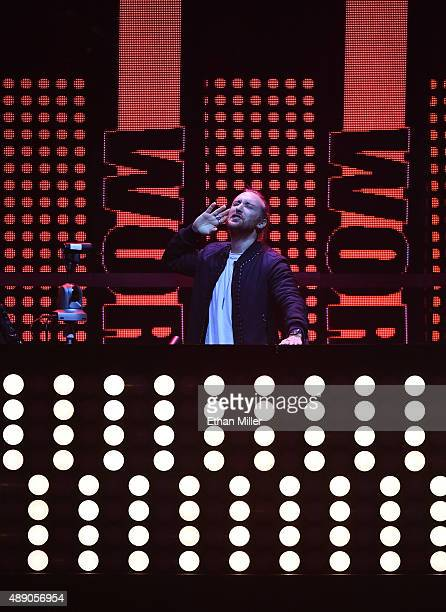 David Guetta performs onstage at the 2015 iHeartRadio Music Festival at MGM Grand Garden Arena on September 18 2015 in Las Vegas Nevada