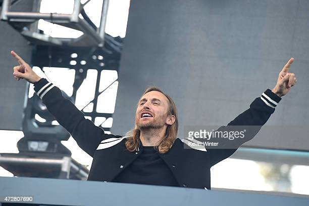David Guetta performs onstage during 1027 KIIS FM's 2015 Wango Tango at StubHub Center on May 9 2015 in Los Angeles California