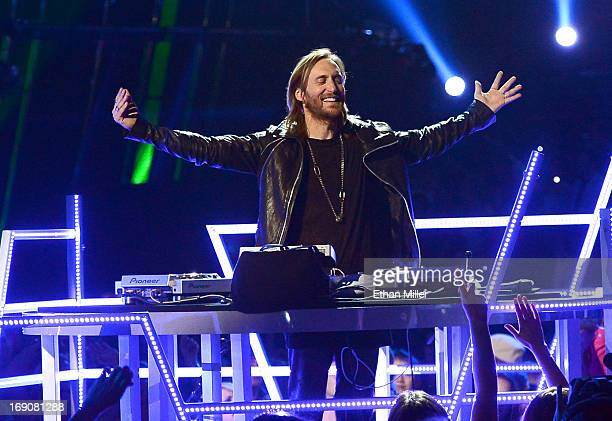 David Guetta performs onstage during the 2013 Billboard Music Awards at the MGM Grand Garden Arena on May 19 2013 in Las Vegas Nevada