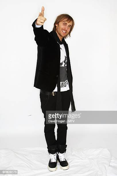 David Guetta poses for a picture in the studio during the 2009 MTV Europe Music Awards held at the O2 Arena on November 5 2009 in Berlin Germany