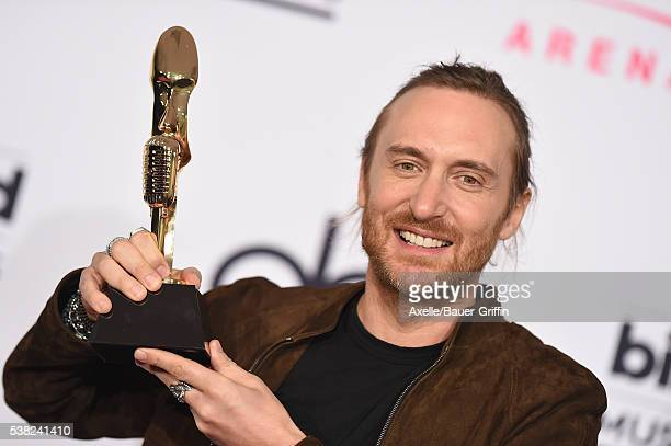 David Guetta poses in the press room at the 2016 Billboard Music Awards at TMobile Arena on May 22 2016 in Las Vegas Nevada