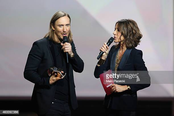 David Guetta receives a special prize to celebrate the 30 years of the 'Victoires de la Musique' in Electronic Music category during the 30th...
