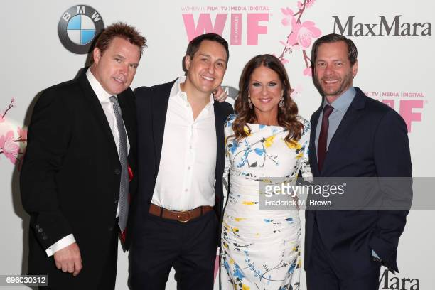 David Guillod Jeff Morrone Cathy Schulman and Jeff Gaspin of Primary Wave Entertainment attend Women In Film 2017 Crystal Lucy Awards presented By...