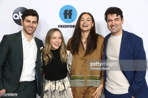 David Guintoli Allison Miller Christina Ochoa and Ron Livingston attend the Disney ABC Television Hosts TCA Winter Press Tour 2019 at The Langham...