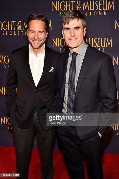 "David Guion and Michael Handelman attend the ""Night At The Museum: Secret Of The Tomb"" New York Premiere at Ziegfeld Theater on December 11, 2014 in..."