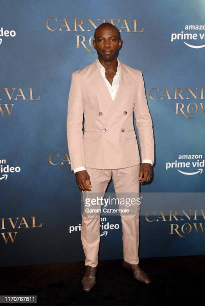 David Gyasi attends the Amazon Original series Carnival Row London Screening at The Ham Yard Hotel on August 28 2019 in London England