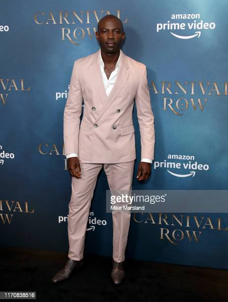 David Gyasi attends the Carnival Row London Premiere at The Ham Yard Hotel on August 28 2019 in London England
