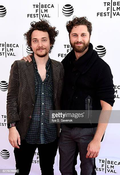 David H Holmes and Gene Gallerano attend the Tribeca Talks After The Movie Starring Austin Pendleton at SVA Theatre 2 on April 21 2016 in New York...