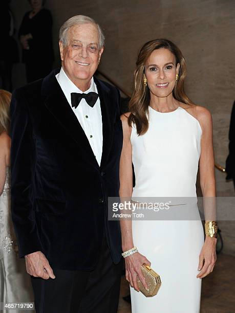 David H Koch and Julia Flesher Koch attends the School of American Ballet 2015 Winter Ball at David H Koch Theater at Lincoln Center on March 9 2015...