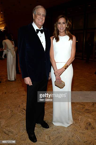 David H Koch and Julia Koch attend The School of American Ballet 2015 Winter Ball at David H Koch Theater at Lincoln Center on March 9 2015 in New...