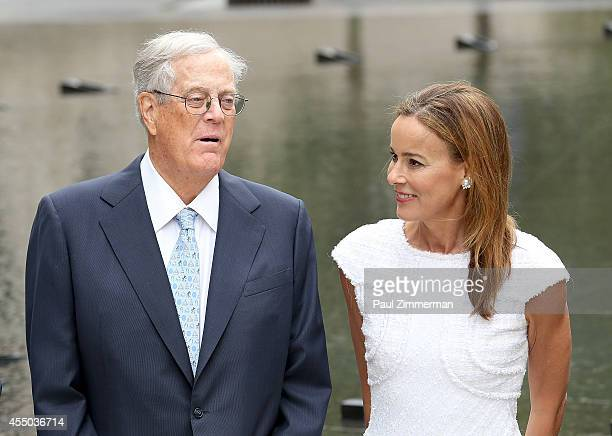 David H Koch and Julia Koch attend the unveiling of the David H Koch Plaza at the Metropolitan Museum of Art on September 9 2014 in New York City