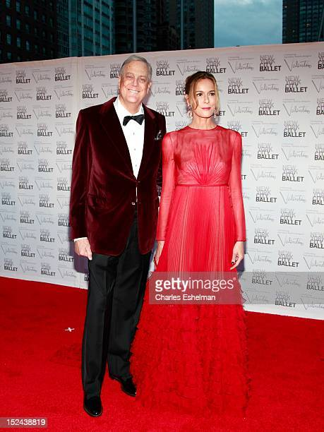 David H Koch and wife Julia M Flesher Koch attend the 2012 New York City Ballet fall gala at David H Koch Theater Lincoln Center on September 20 2012...