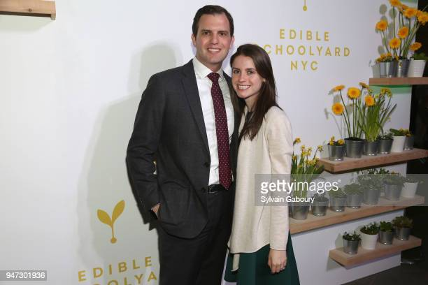 David Haber and Katy Lefkof attend Edible Schoolyard NYC 2018 Spring Benefit at 180 Maiden Lane on April 16 2018 in New York City