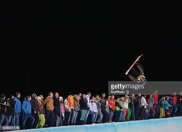 David Habluetzel from Switzerland during Men's' Snowboard Halfpipe final at FIS Snowboard World Championship 2015 in Kreischberg Austria Saturday 17...