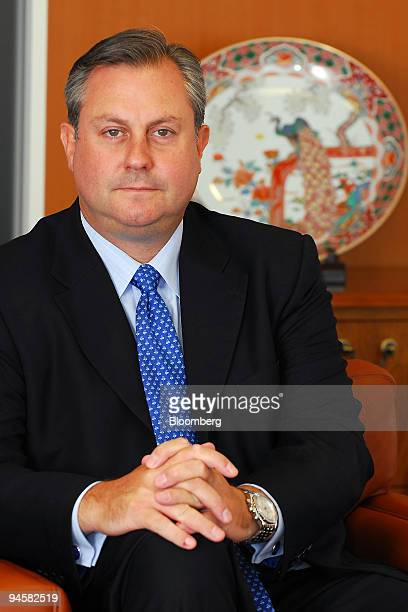 David Hackett, chief financial officer at Aozora Bank Ltd., poses for a photo at the company's head offices in Tokyo, Japan, on Thursday, May 24,...