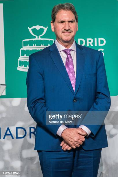 David Haggerty, president of the International Tennis Federation during the draw ceremony of the Davis Cup tennis finals 2019.