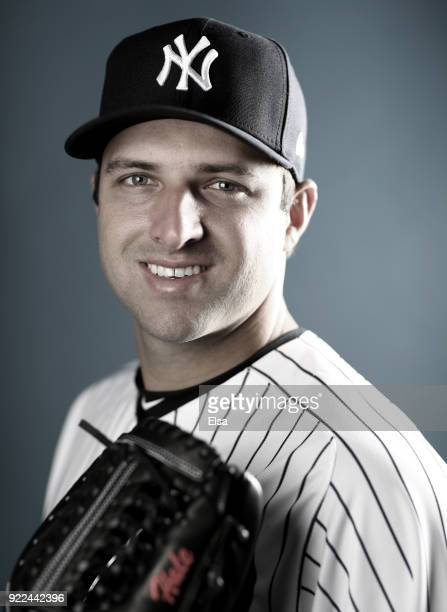 David Hale of the New York Yankees poses for a portrait during the New York Yankees photo day on February 21 2018 at George M Steinbrenner Field in...