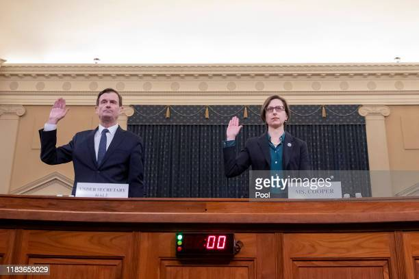 David Hale under secretary of state for political affairs and Laura Cooper deputy assistant secretary of defense for Russia Ukraine and Eurasia are...
