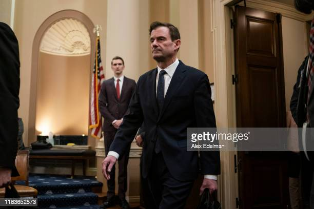 David Hale under secretary of state for political affairs arrives for testimony before the House Intelligence Committee in the Longworth House Office...