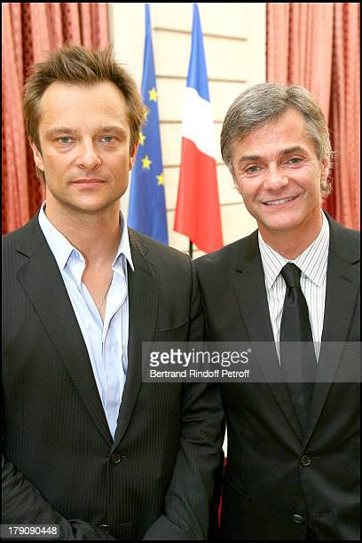 David Hallyday and Cyril Viguier at Presentation Of The France Pavilion For Shanghai World Expo 2010
