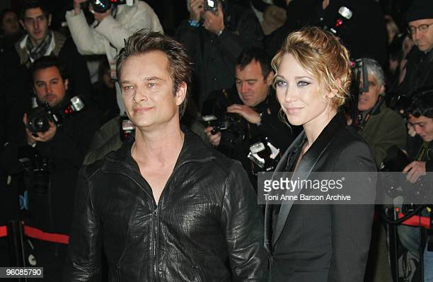 David Hallyday and Laura Smet arrive at NRJ Music Awards at the Palais des Festivals on January 23 2010 in Cannes France